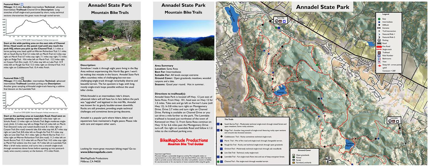 Bay Area Mountain Bike Trail Maps - Boulder bike path map